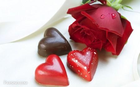 گل رز قرمز عاشقانه
