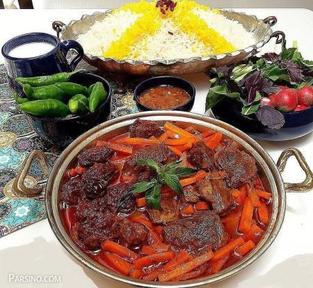 آموزش پخت خورش هویج , طرز تهیه خورش هویج , خورشت هویج