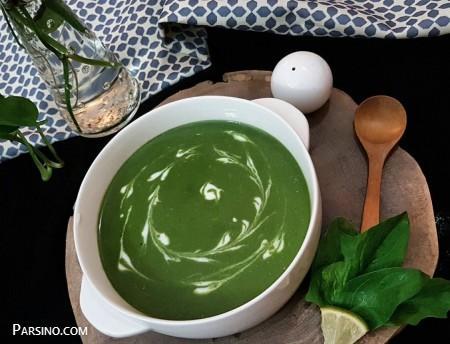 آموزش پخت سوپ اسفناج , طرز تهیه سوپ اسفناج , سوپ مقوی اسفناج