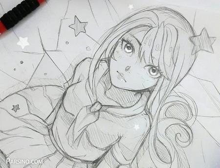 پروفایل کارتونی دخترونه , عکس پروفایل نقاشی