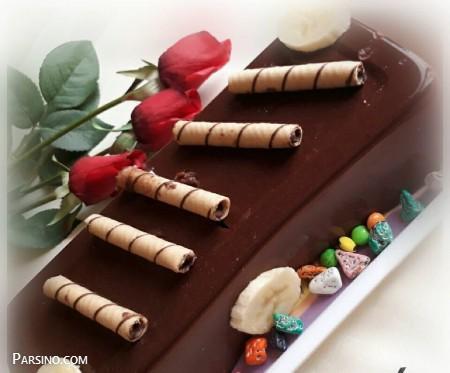 آموزش تهیه پاناکوتا شکلاتی , طرز تهیه پاناکوتا شکلاتی , دسر پاناکوتا شکلاتی