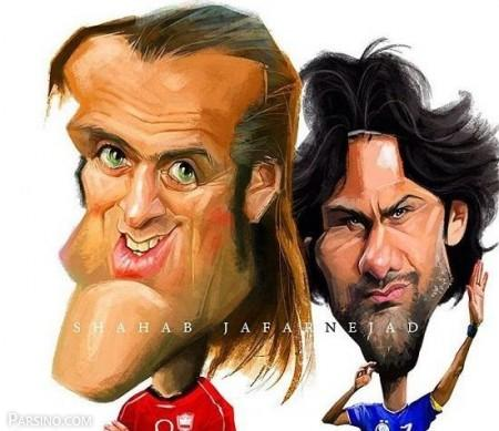 تصاویر کاریکاتور ورزشکاران خارجی , کاریکاتور ورزشکاران , عکس های کاریکاتور ورزشکاران ایرانی