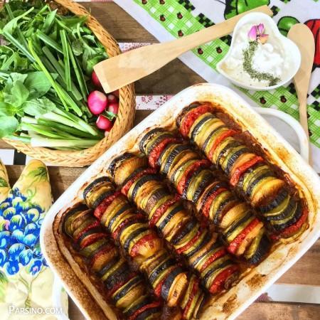 آموزش راتاتوی کلاسیک , دستور پخت راتاتوی ، راتاتوی بادمجان فرانسوی