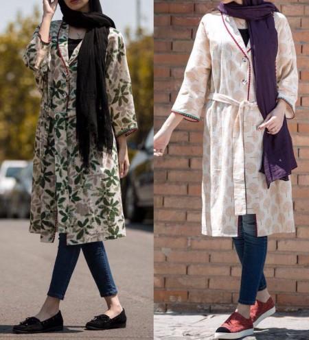 مدل مانتوهای اسپرت و طرح دار ایرانی بلند