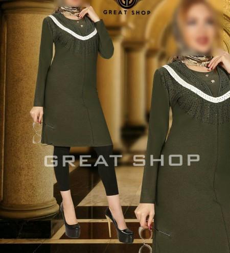 مدل مانتوهای کتی و طرح دار ایرانی بلند