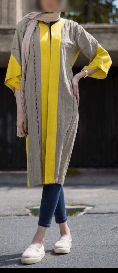 مدل مانتو تابستانی بلند شیک اسپرت