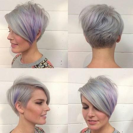 مدل موی کوتاه رنگ شده