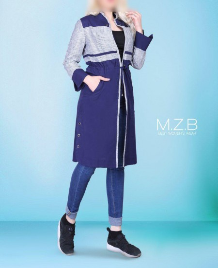 مدل مانتو دو رنگ بلند