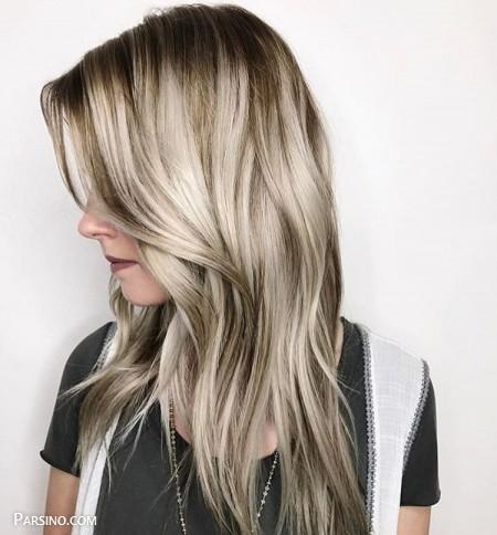 رنگ مو , رنگ موی زنانه , رنگ مو 2018 , رنگ مو کاراملی دودی
