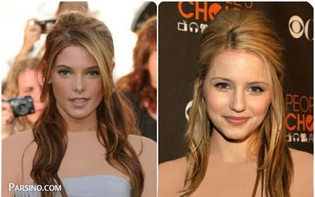 مدل مو باز رنگ شده , مدل مو باز زنانه , مدل مو باز دخترانه