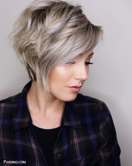 مدل مو کوتاه رنگ شده , مدل مو رنگ کرده , مو کوتاه کرده