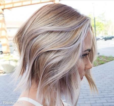 مدل مو کوتاه رنگ شده , مو رنگ کرده , مو کوتاه کرده