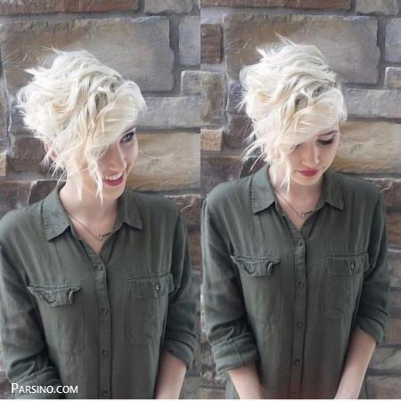 موی کوتاه جذاب , مدل مو کوتاه دخترونه , مدل مو کوتاه فانتزی