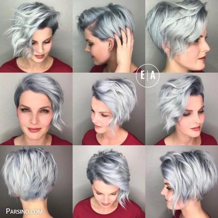 مدل مو کوتاه زنونه ,موی کوتاه مجلسی ,مدل مو کوتاه 2018