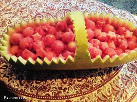 فیلم تزئین هندوانه شب یلدا , تزیین هندوانه شب یلدا , هندوانه شب چله برای عروس