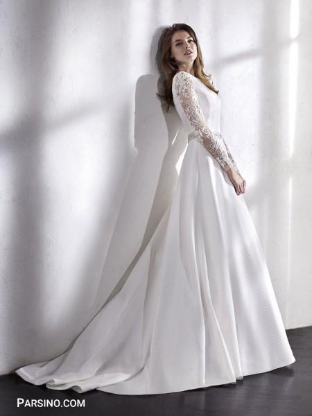 مدل جدید لباس عروس گیپور و بلند خارجی
