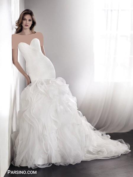 زیباترین عکس لباس عروس دکلته خارجی