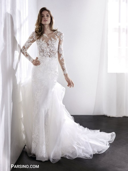 زیباترین مدل لباس عروس گیپور سال 2018