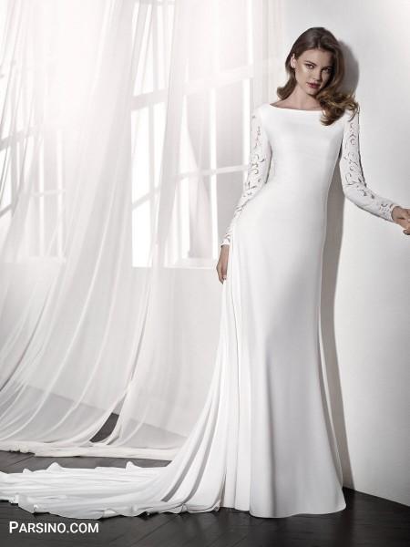 لباس عروس جدید , مدل لباس عروس پوشیده خارجی