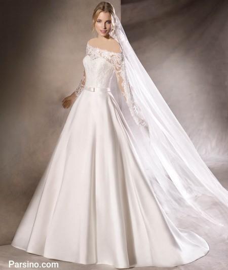 شیک ترین لباس عروس گیپور و تور خارجی