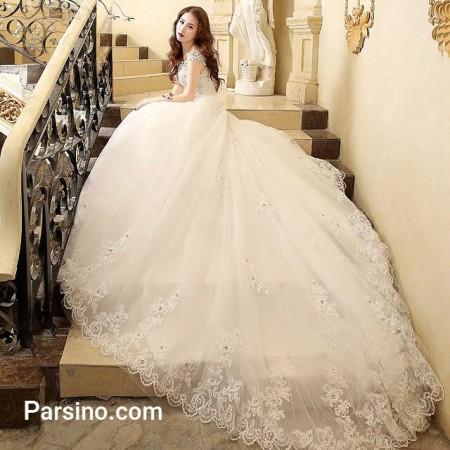 شیک ترین لباس عروس پرنسسی , مدل لباس عروس دنباله دار