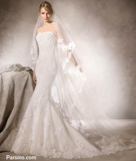 عکس لباس عروس گیپور و تور خارجی