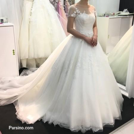 عکس لباس عروس پرنسسی , مدل لباس عروس دامن پفی