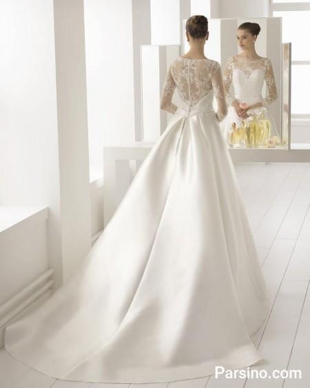 لباس عروس جدید , مدل لباس عروس پوشیده , لباس عروس دنباله دار