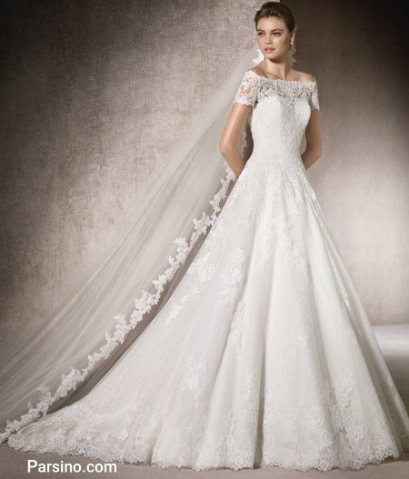 عکس لباس عروس 2018 , لباس عروس گیپور
