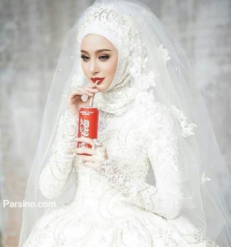 مدل لباس عروس ایرانی پوشیده و با حجاب