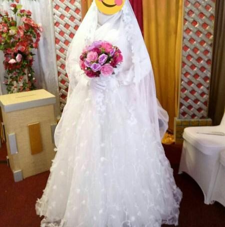 لباس عروس ایرانی پوشیده و باحجاب