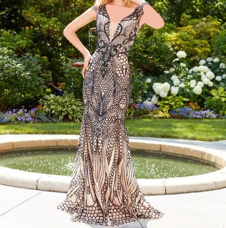 لباس مجلسی بلند آستین دار , مدل لباس مجلسی شیک زنانه , لباس مجلسی جذاب