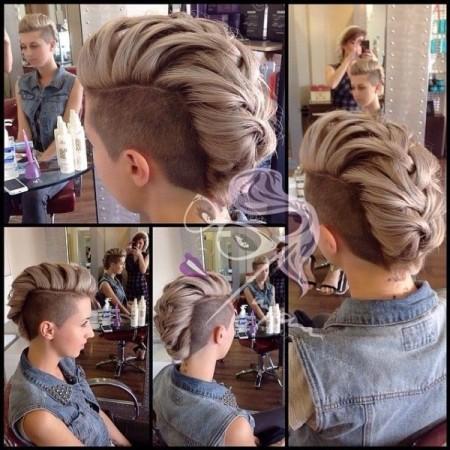 مدل بافت مو برای مدل موی کوتاه شده
