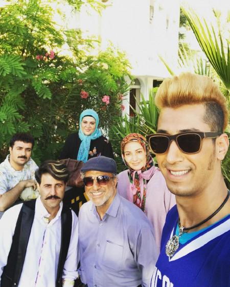 عکس پشت صحنه سریال پایتخت 5 , بهرام افشاری در پشت صحنه سریال پایتخت