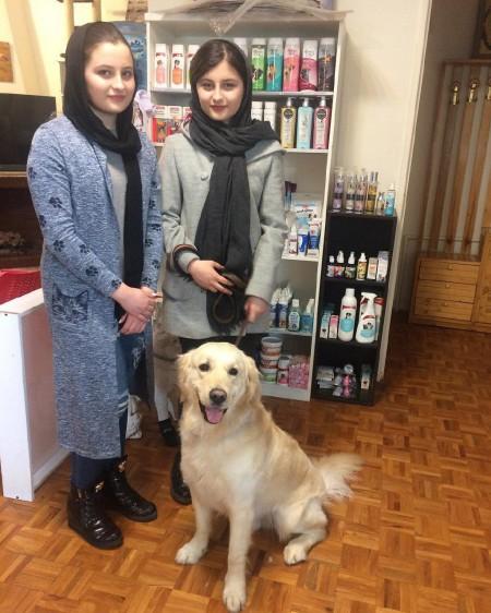 بیوگرافی سارا و نیکا , عکس سارا و نیکا با سگ شان