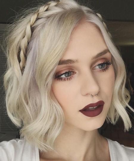مدل موی بافته شده , مدل بافت مو برای موهای کوتاه