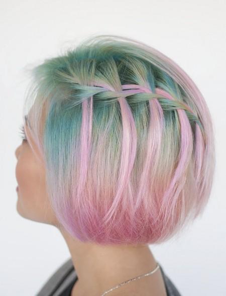 عکس موی بافته شده , مدل بافت مو برای موهای کوتاه