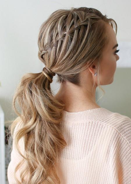 مدل موی بافته شده , مدل بافت مو برای موهای باز , مدل بافت مو برای موهای بلند