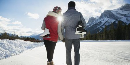 عکس زمستانی عاشقانه