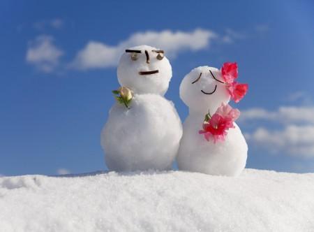 عکس عاشقانه دونفره زمستانی