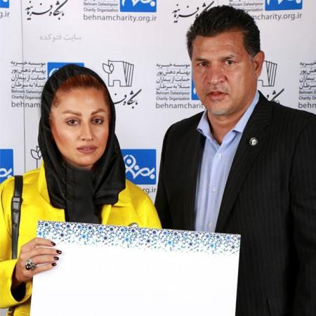 همسر دوم علی دایی مونا فرخ آذری